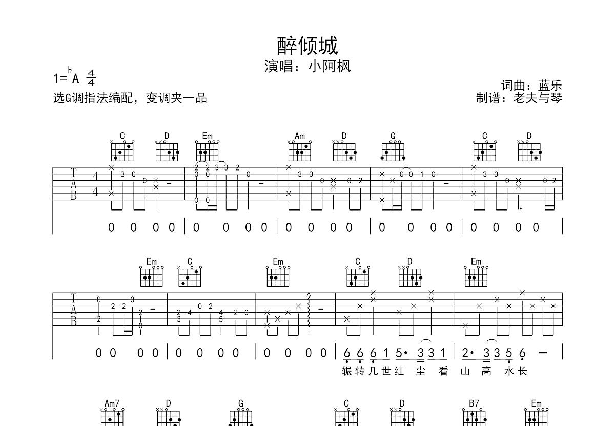 鬼怪曲谱吉他_鬼怪简谱吉他