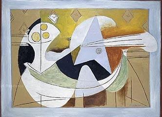 毕加索作品中的吉他主题与变奏创作